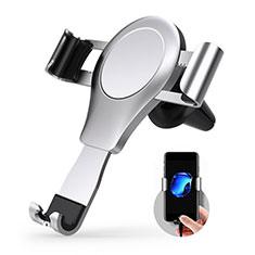 Soporte Universal de Coche Rejilla de Ventilacion Sostenedor R01 para Sony Xperia XA2 Plata