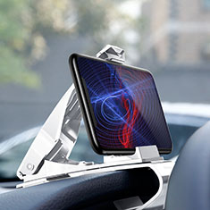 Soporte Universal de Coche Tablero Salpicadero Clip T03 para Sony Xperia XA3 Ultra Blanco