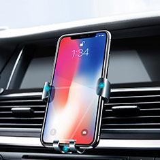 Soporte Universal Rejilla de Ventilacion Coche Z02 para Huawei P Smart 2019 Plata
