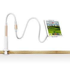 Soporte Universal Sostenedor De Tableta Tablets Flexible T33 para Apple iPad 3 Oro