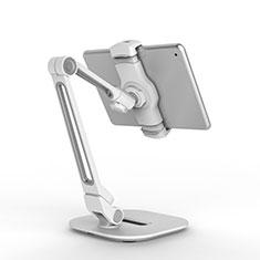 Soporte Universal Sostenedor De Tableta Tablets Flexible T44 para Apple iPad 3 Plata