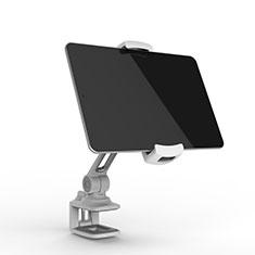 Soporte Universal Sostenedor De Tableta Tablets Flexible T45 para Apple iPad 3 Plata