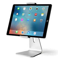 Soporte Universal Sostenedor De Tableta Tablets T24 para Apple iPad 3 Plata