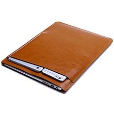 Suave Cuero Bolsillo Funda L01 para Huawei Matebook D14 (2020) Naranja