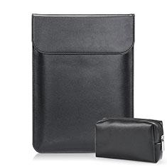 Suave Cuero Bolsillo Funda L02 para Samsung Galaxy Book Flex 15.6 NP950QCG Negro