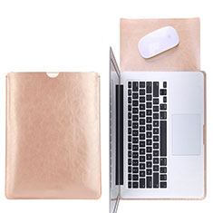 Suave Cuero Bolsillo Funda L17 para Apple MacBook 12 pulgadas Oro