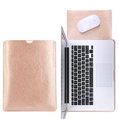 Suave Cuero Bolsillo Funda L17 para Apple MacBook Pro 15 pulgadas Oro