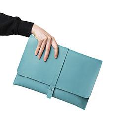 Suave Cuero Bolsillo Funda L18 para Apple MacBook Pro 15 pulgadas Retina Azul Cielo