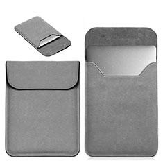 Suave Cuero Bolsillo Funda L19 para Apple MacBook 12 pulgadas Gris
