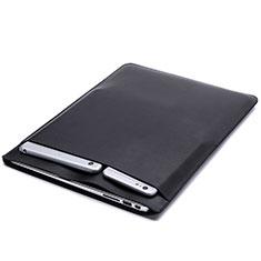 Suave Cuero Bolsillo Funda L20 para Apple MacBook 12 pulgadas Negro