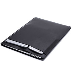 Suave Cuero Bolsillo Funda L20 para Apple MacBook Air 13 pulgadas (2020) Negro