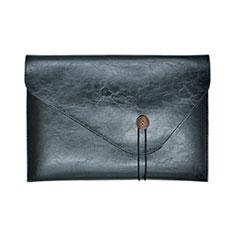 Suave Cuero Bolsillo Funda L23 para Apple MacBook 12 pulgadas Negro