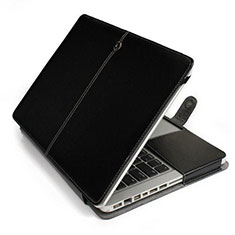 Suave Cuero Bolsillo Funda L24 para Apple MacBook 12 pulgadas Negro