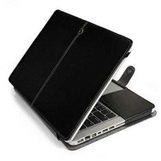 Suave Cuero Bolsillo Funda L24 para Apple MacBook Air 11 pulgadas Negro