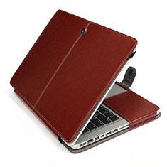 Suave Cuero Bolsillo Funda L24 para Apple MacBook Air 13.3 pulgadas (2018) Marron