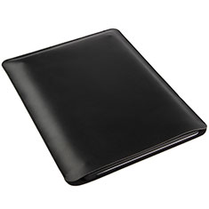 Suave Cuero Bolsillo Funda para Apple iPad Air 2 Negro