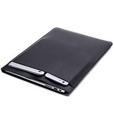 Suave Cuero Bolsillo Funda para Huawei Honor MagicBook 15 Negro