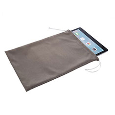 Suave Terciopelo Tela Bolsa de Cordon Carcasa para Apple iPad New Air (2019) 10.5 Gris