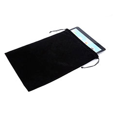 Suave Terciopelo Tela Bolsa de Cordon Funda para Apple iPad Mini 2 Negro