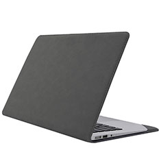 Suave Terciopelo Tela Bolsa Funda L01 para Huawei Honor MagicBook 14 Gris Oscuro