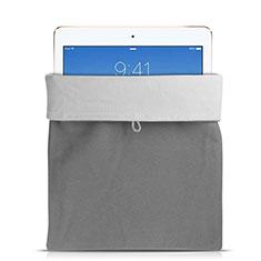 Suave Terciopelo Tela Bolsa Funda para Apple iPad 2 Gris