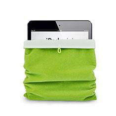 Suave Terciopelo Tela Bolsa Funda para Apple iPad 2 Verde