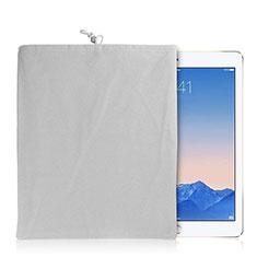 Suave Terciopelo Tela Bolsa Funda para Apple iPad Air 2 Blanco