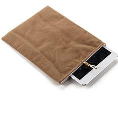 Suave Terciopelo Tela Bolsa Funda para Apple iPad Air 2 Marron