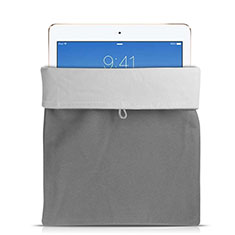 Suave Terciopelo Tela Bolsa Funda para Apple iPad Mini Gris