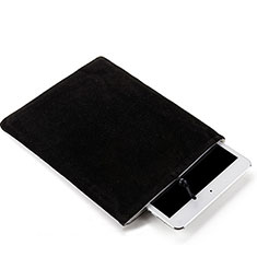 Suave Terciopelo Tela Bolsa Funda para Huawei MediaPad M3 Lite Negro
