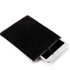Suave Terciopelo Tela Bolsa Funda para Samsung Galaxy Tab S7 Plus 5G 12.4 SM-T976 Negro