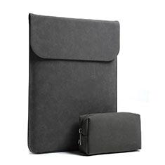 Suave Terciopelo Tela Bolsa Funda S02 para Huawei Matebook D15 (2020) 15.6 Negro