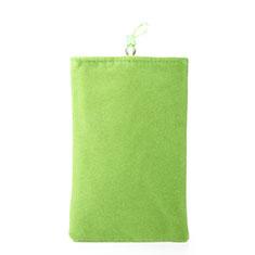 Suave Terciopelo Tela Bolsa Funda Universal para Sony Xperia XZ2 Compact Verde