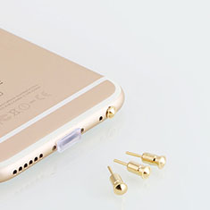 Tapon Antipolvo Jack 3.5mm Android Apple Universal D05 para Huawei Mate 20 RS Oro