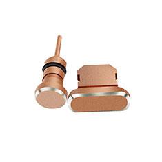 Tapon Antipolvo Lightning USB Jack J01 para Apple iPhone 11 Oro Rosa