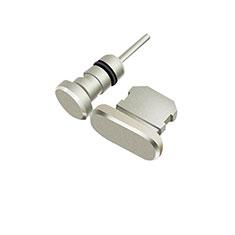 Tapon Antipolvo Lightning USB Jack J01 para Apple iPhone 11 Plata