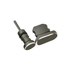 Tapon Antipolvo Lightning USB Jack J01 para Apple iPhone 12 Pro Max Negro
