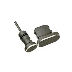 Tapon Antipolvo Lightning USB Jack J01 para Apple iPhone 12 Pro Negro