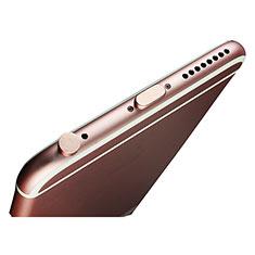 Tapon Antipolvo Lightning USB Jack J02 para Apple iPhone 11 Pro Oro Rosa
