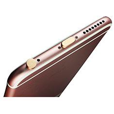 Tapon Antipolvo Lightning USB Jack J02 para Apple iPhone 12 Pro Max Oro