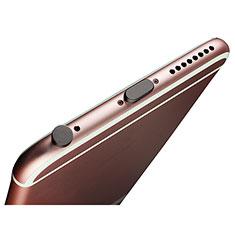 Tapon Antipolvo Lightning USB Jack J02 para Apple iPhone Xs Negro
