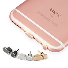 Tapon Antipolvo Lightning USB Jack J04 para Apple iPhone Xs Oro Rosa
