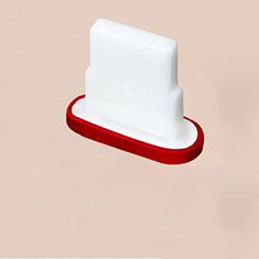 Tapon Antipolvo Lightning USB Jack J07 para Apple iPhone 11 Pro Rojo