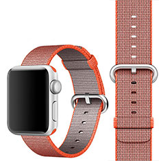 Tela Correa De Reloj Eslabones Pulsera para Apple iWatch 5 44mm Naranja
