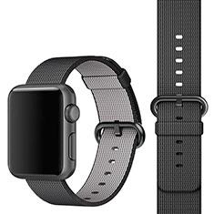 Tela Correa De Reloj Pulsera Eslabones para Apple iWatch 3 42mm Negro