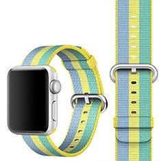 Tela Correa De Reloj Pulsera Eslabones para Apple iWatch 5 40mm Amarillo