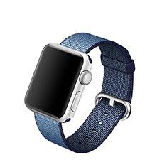 Tela Correa De Reloj Pulsera Eslabones para Apple iWatch 5 44mm Azul