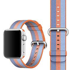 Tela Correa De Reloj Pulsera Eslabones para Apple iWatch 5 44mm Naranja