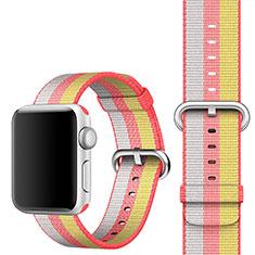 Tela Correa De Reloj Pulsera Eslabones para Apple iWatch 5 44mm Rojo