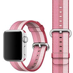 Tela Correa De Reloj Pulsera Eslabones para Apple iWatch 5 44mm Rosa